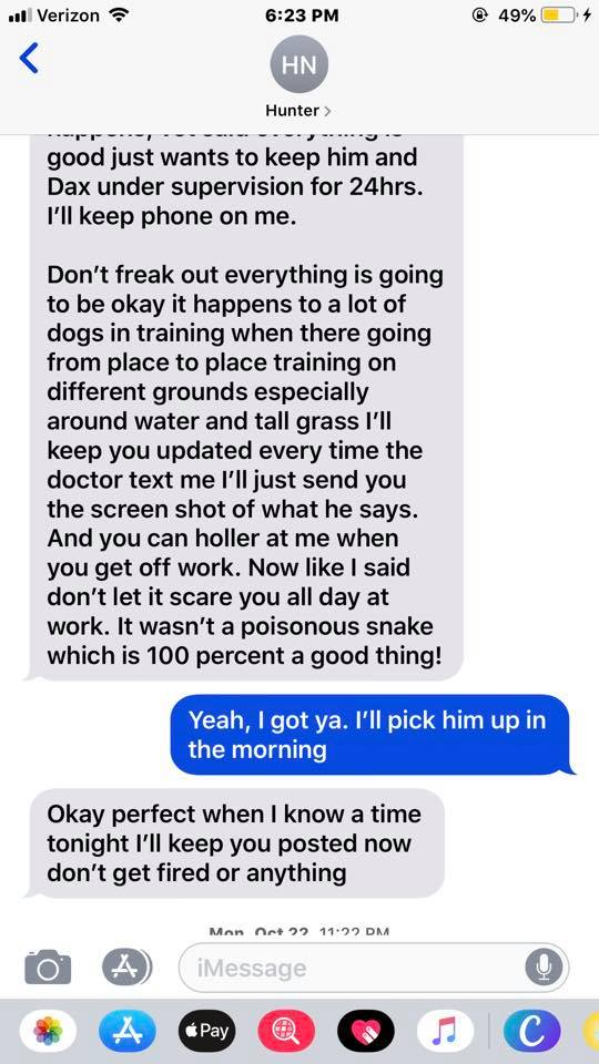 woman shares screenshots of conversation with dog trainer from hell