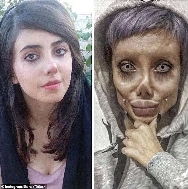 iranian instagram model and angelina jolie wannabe arrested for blasphemy