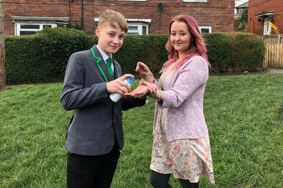 coronavirus: teenager suspended from school for selling hand sanitizer 'squirts'