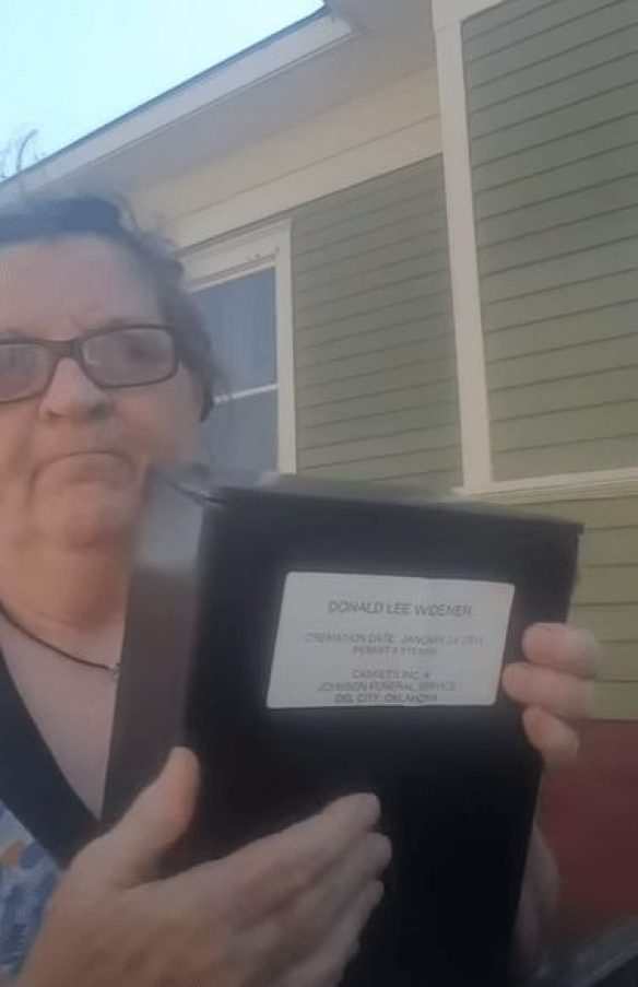 wife dumps ashes of her abusive husband in the trash
