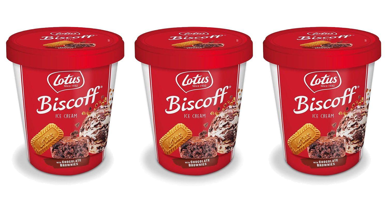 asda is now selling lotus biscoff ice cream stuffed with chocolate brownie chunks