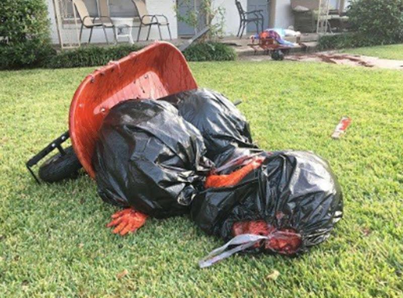 ultra-gory halloween front yard display is so disturbing neighbors keep dialing 911