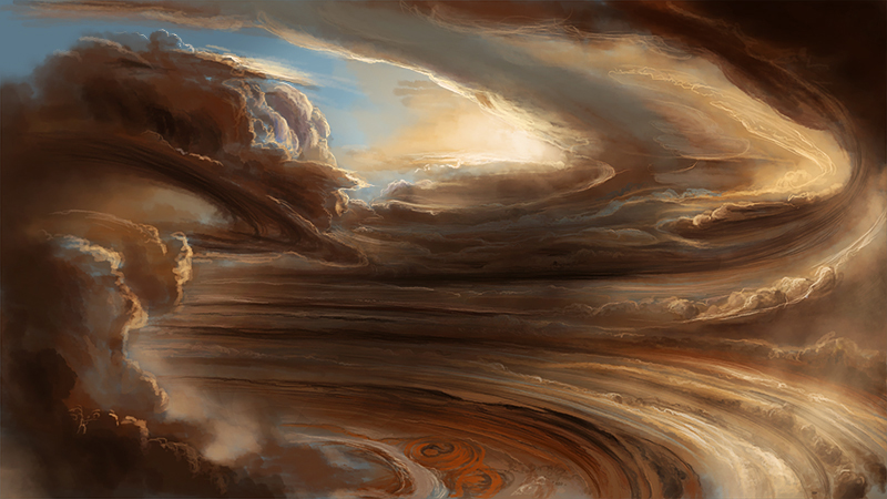 nasa spacecraft juno sends back stunning images taken near jupiter cloud tops