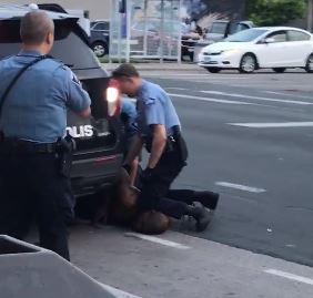 unarmed black man dies after police knelt on his neck during arrest