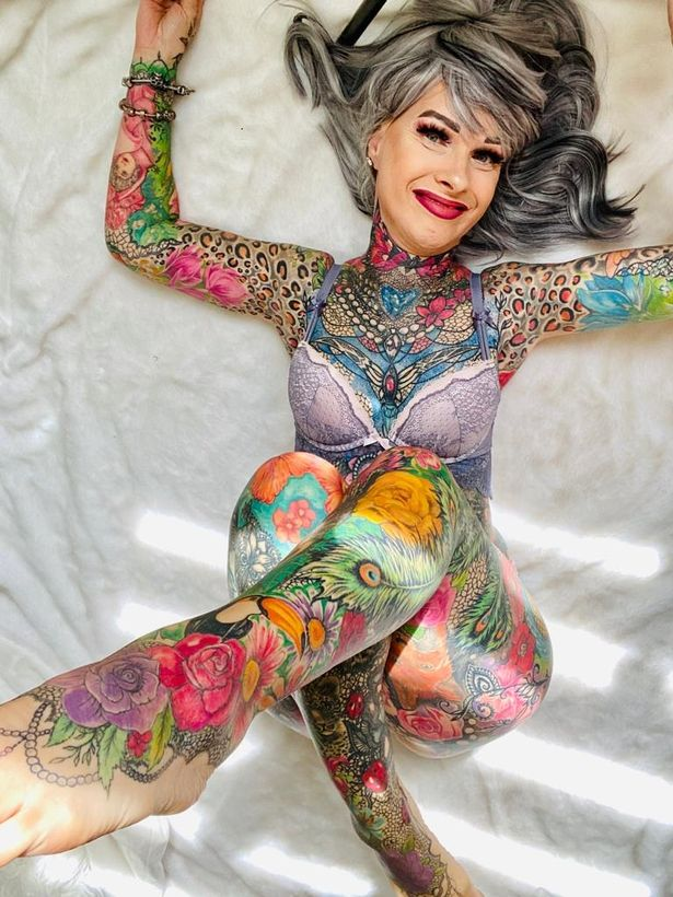 woman, 55, who's spent almost $39,000 (£30,000) on tattoos gets asked if her genitals are inked