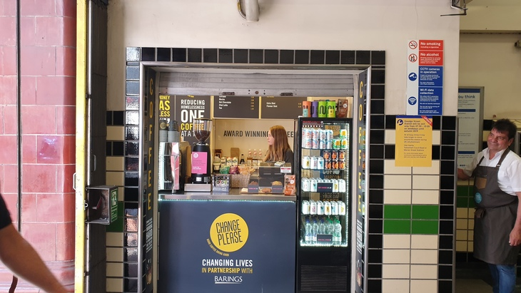 the coffee shop that trains homeless people to be baristas… in a tube station