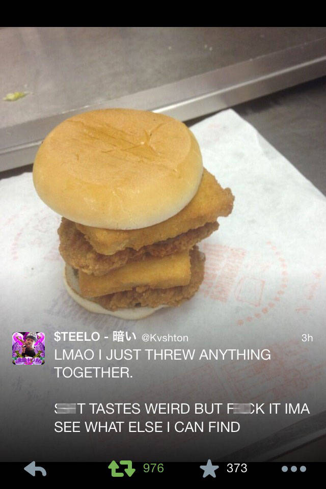dude finds himself completely alone in mcdonald's; jumps the counter and makes his own meal