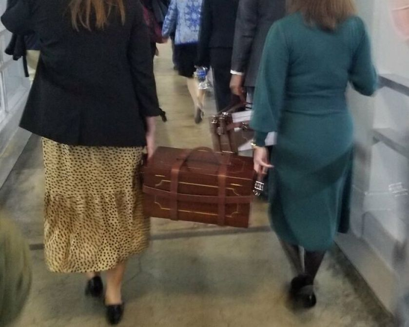 photo of senate employees moving ballot boxes during capitol riots goes viral for all the right reasons