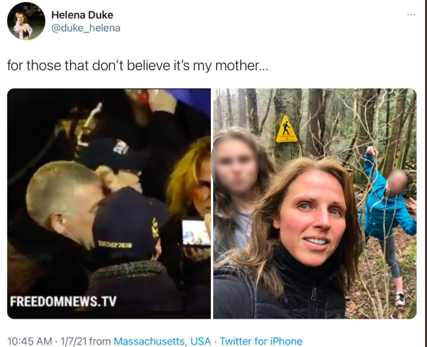 daughter outs mother for taking part in us capitol riots
