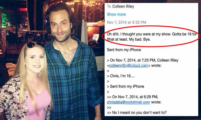 allegations of sexual misconduct against chris d'elia may be escalated to violation of child pornography law