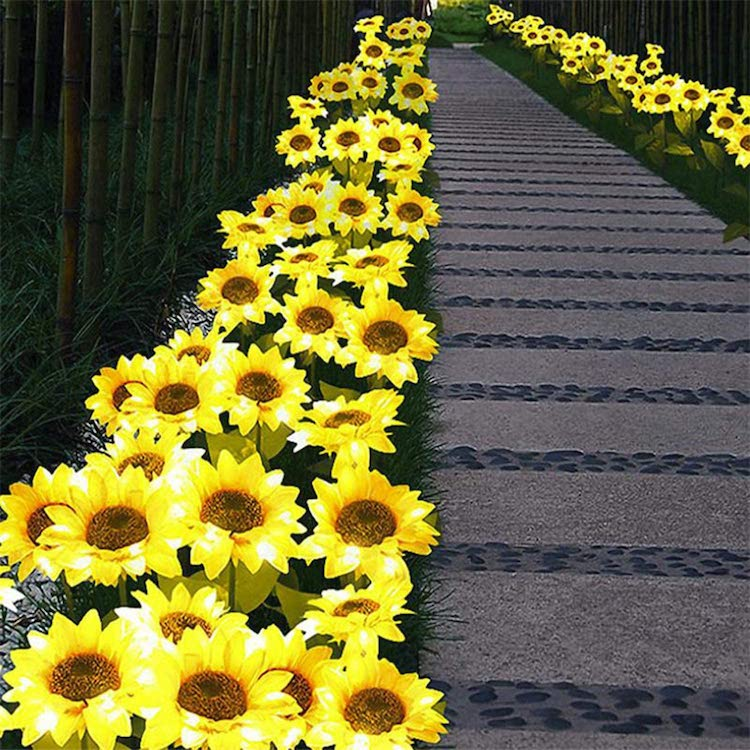 you can get solar powered sunflower lights and i need them now