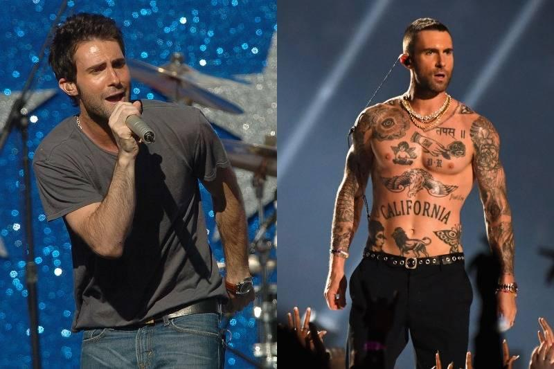 Celebrities Before And After Covering Themselves In Tattoos