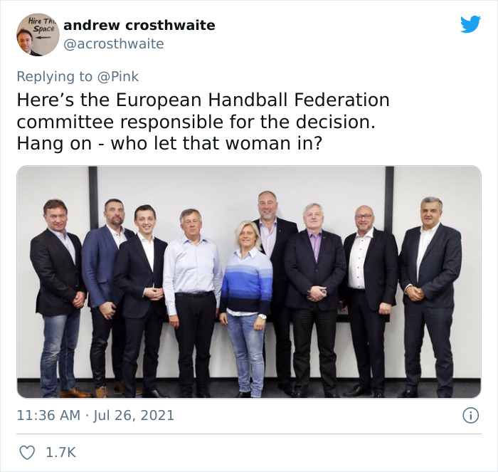 """Pink Offers To Pay """"sexist"""" Fine For Women's Handball Team Who Wore Shorts To A Game Instead Of Bikini Bottoms"""