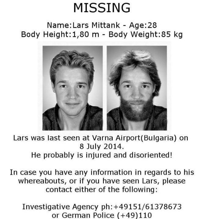 Lars Mittank – A German Tourist Who Vanished From Bulgaria's Airport In 2014