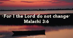 Malachi 3:6 Devotional