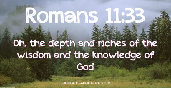 Romans 11:33 Oh, the depth and riches of the wisdom and the knowledge of God