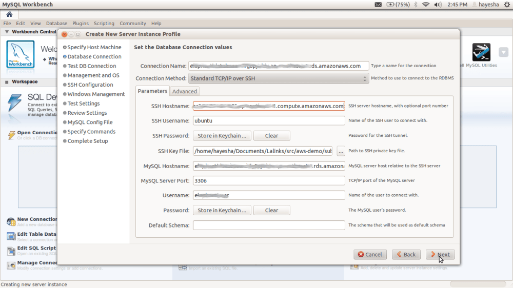 Monitoring and Managing Amazon RDS Databases using MySQL Workbench (4/6)