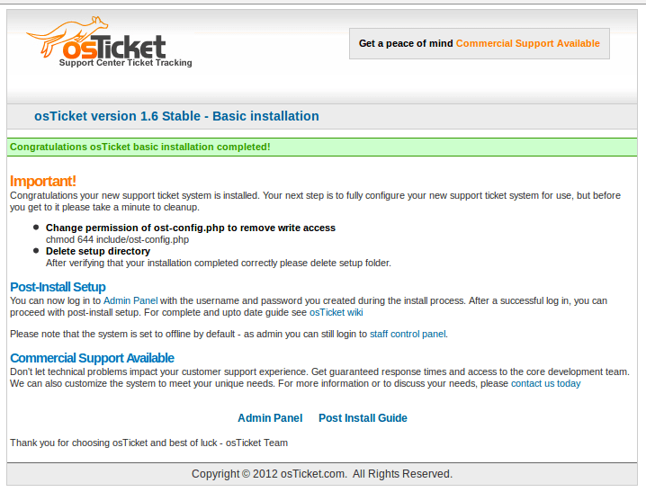 Setting up osTicket to handle customer inquires (2/3)