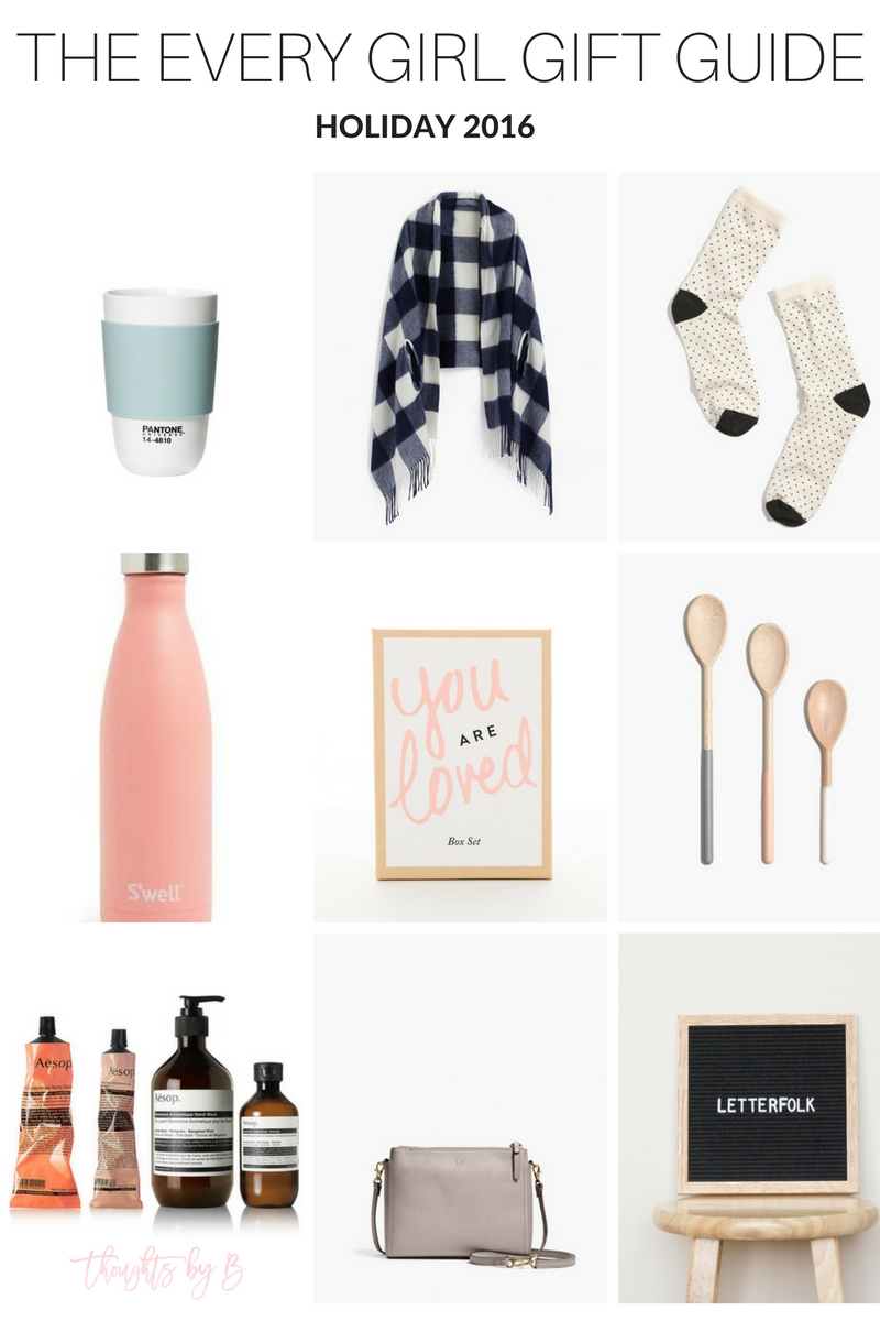 A Gift Guide for the every girl... every size, every color, every price point, I've got you covered!  www.thoughtsbyb.com