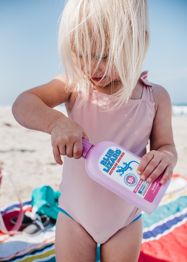 Sun Safety with Blue Lizard Sunscreen in San Diego CA by Brandi of Thoughts By B