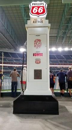 The gas pump that tallies Astros home runs hit at Minute Maid Park