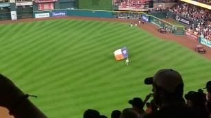 Orbit celebrates another Astros win