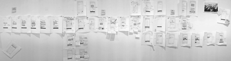 Wall covered with paper