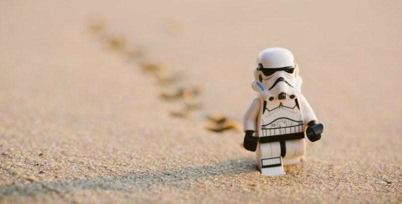 Snowtrooper in desert