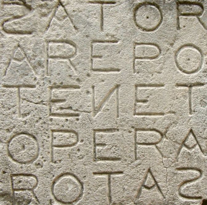 Example of Sator Square