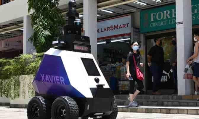 Singapore surveillance robot