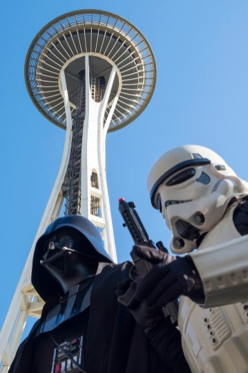 Darth and one of his Storm Troopers