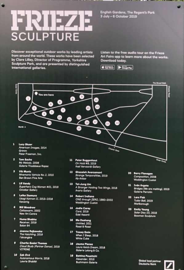Frieze sculpture park London