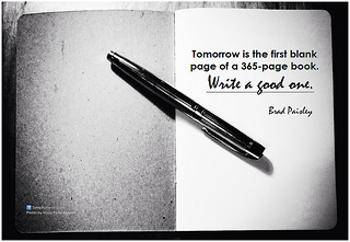 Brad Paisley Tomorrow is the first blank page ...