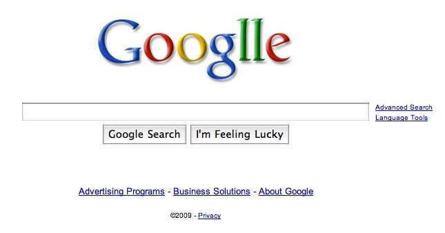 Google's logo on Sept. 27, 2009, to celebrate Google's 11th birthday
