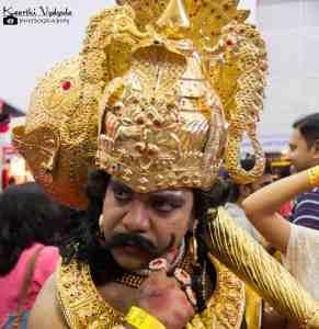 man dressed as Lord Yama