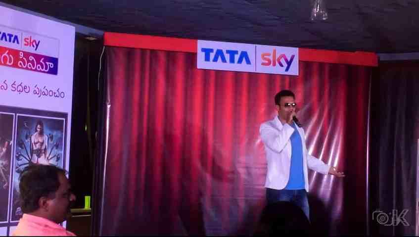 Aziz Naser talking at Tata Sky Telugu Cinema Launch