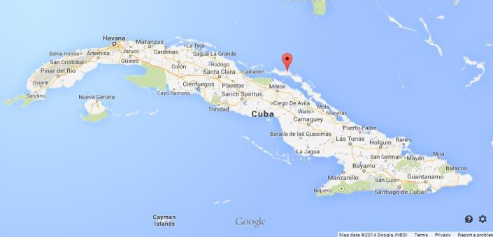 Map of Cayo Coco
