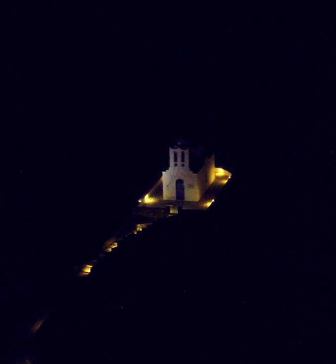 Church of the Seven Martyrs at night