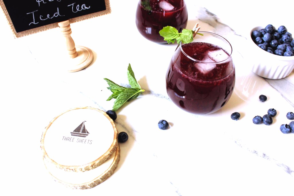 blueberry rooibos iced tea