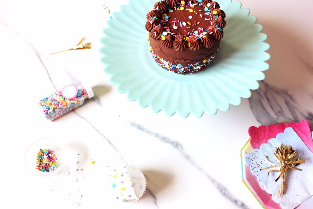 chocolate bailey's mini sprinkle cake recipe