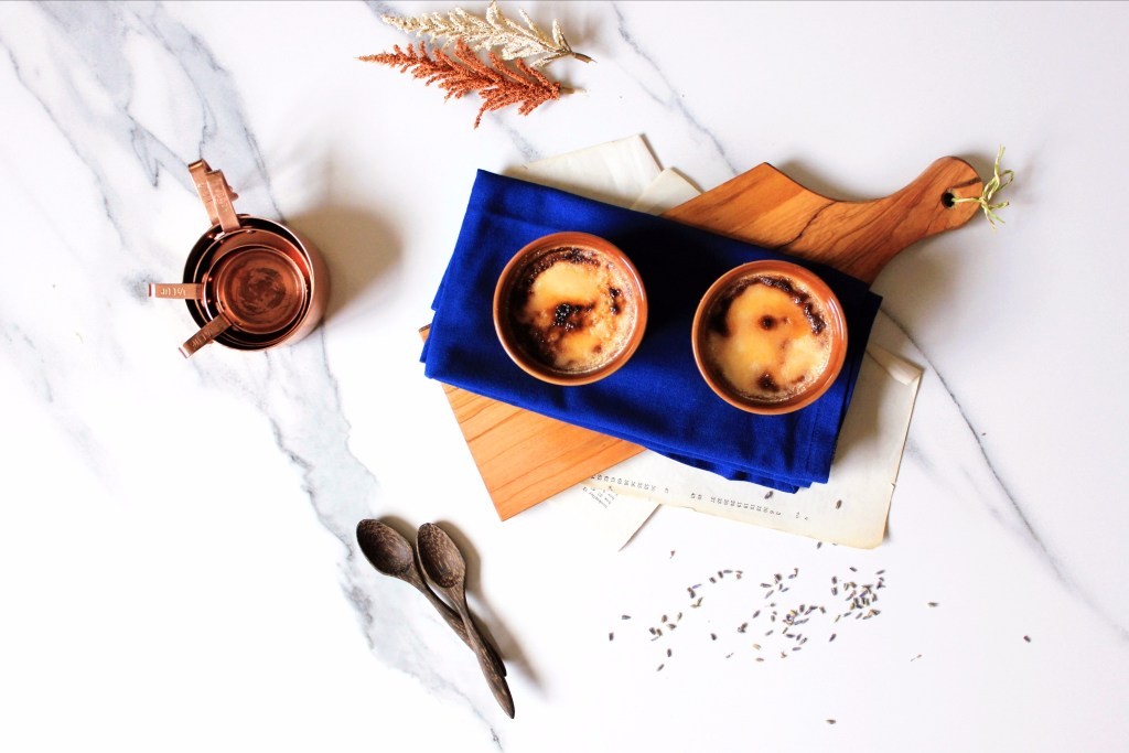 lavender infused white chocolate creme brulee