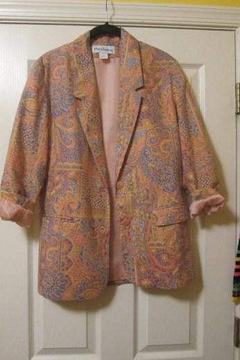 Funky Patterned Oversized blazer