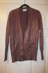 Sparkly Ann Taylor Cardigan (The pic doesn't do this one justice. It looks like it has gold leaf all over it!)