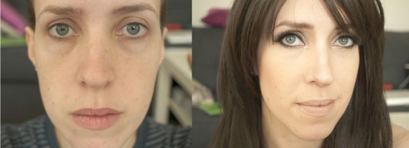 Blogger makeup before and after