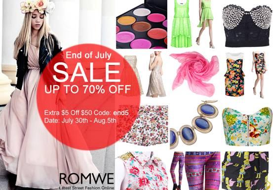 Romwe End of July SALE