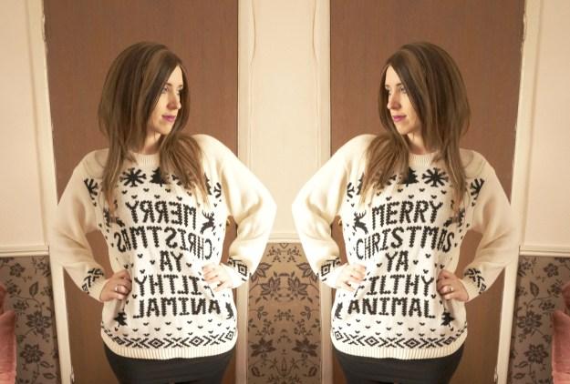 merry christmas ya filty animal jumper