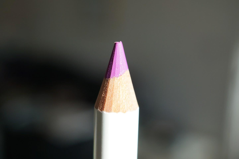 purple lip pencil