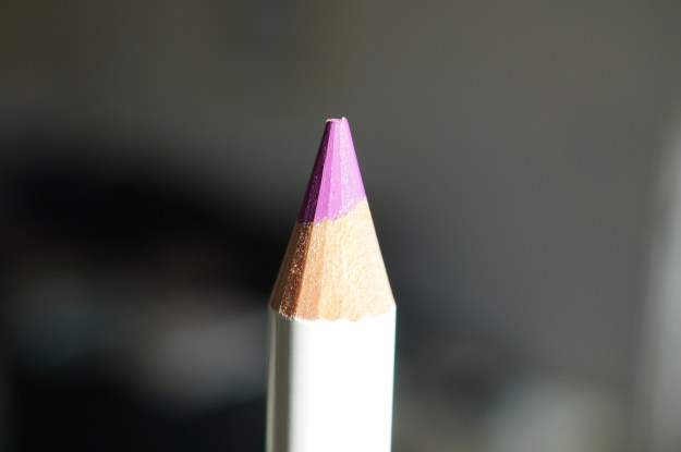 purple lip pencil