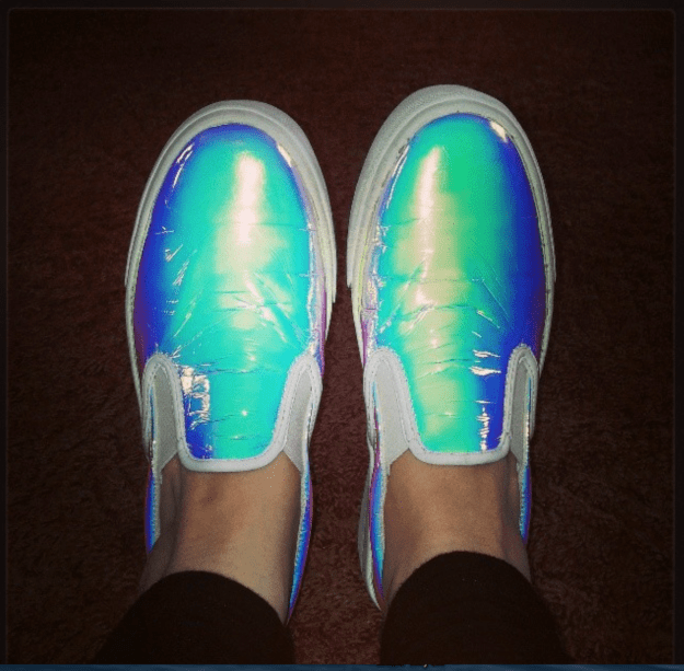 holographic asos shoes