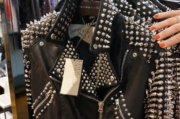 burberry studded jacket